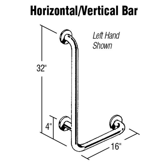 Horizontal/Vertical Stainless Steel Grab Bar - AL-50963 - ALCO ...