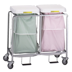 DOUBLE STEEL TUBULAR HAMPER