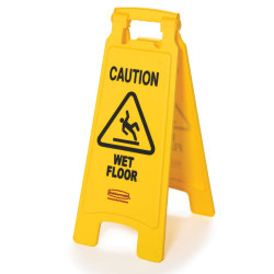 TWO-SIDED FLOOR SIGN
