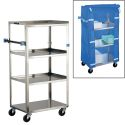 STAINLESS STEEL LINEN CART