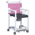 DELUXE SHOWER/COMMODE CHAIR W/