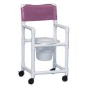 "38"" SHOWER/COMMODE CHAIR; 17"""