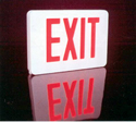 STEEL LED EXIT SIGN, AC ONLY