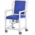 DLX SHOWER/COMMODE CHAIR W/OPN