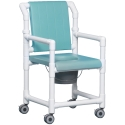 DELUXE SHOWER/COMMODE CHAIR