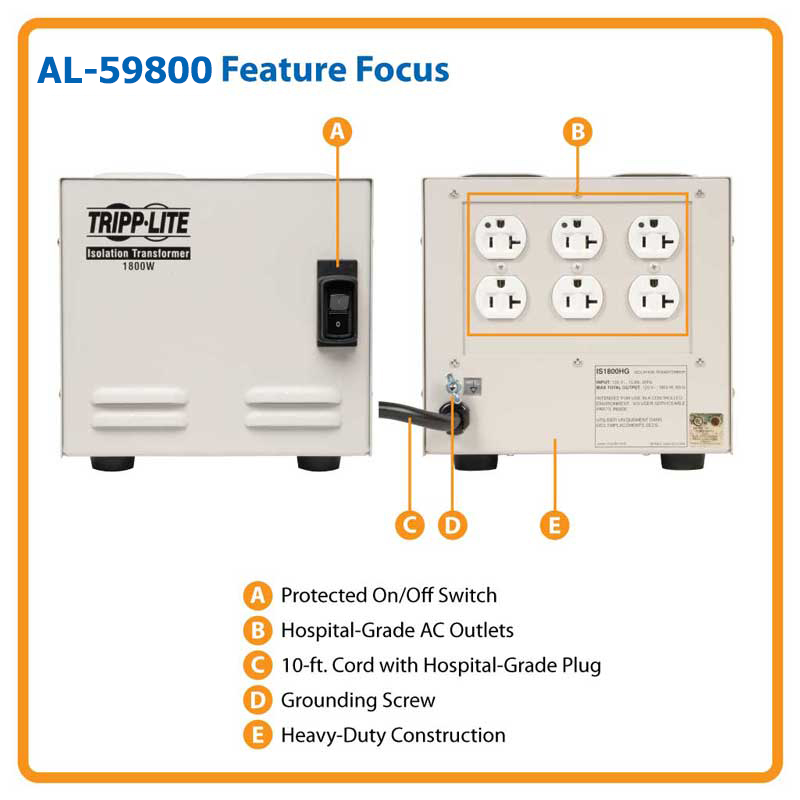 Isolation Transformer - AL-59800 - ALCO Sales & Service Co