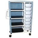 4 SHELF CART W/ 8 BINS