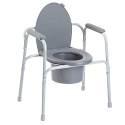 ALUMINUM COMMODE