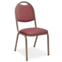 UPHOLSTERED STACKABLE CHAIR