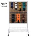 2-SIDED MOBILE WEIGHT RACK