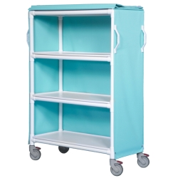 3-SHELF DELUXE WIDE LINEN CART