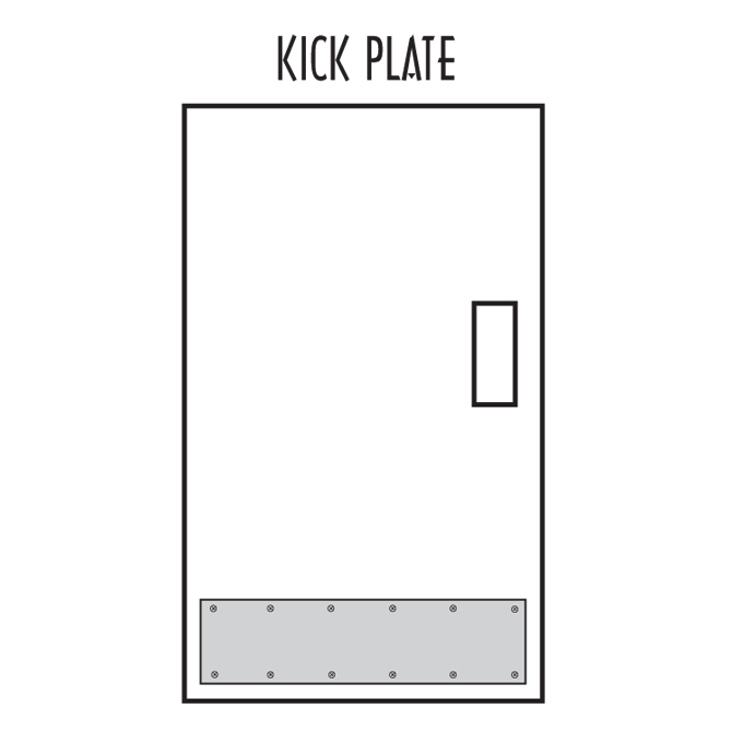 Stainless Steel Kick Plate Al 67256 Alco Sales