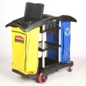 DOUBLE CAPACITY JANITOR CART