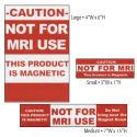 RED MRI CAUTION LABELS (12PK)
