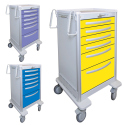 CART W/LEVER LOCK, (6) DRAWERS