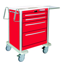 CART W/LEVER LOCK, (4) DRAWERS