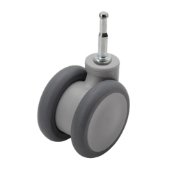 GREY TWIN WHEEL CASTER