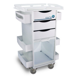 STORAGE CART W/SECURITY RAILED