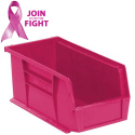 STACKING SHELF BIN (PINK)