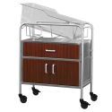 STAINLESS STEEL BASSINET W/