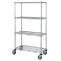 "WIRE MOBILE CART W/ 5"" POLY"