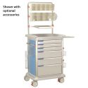 6 DRAWERS MED SUPPLY CART