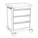 3 DRAWERS MED SUPPLY CART