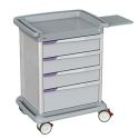 4 DRAWERS MED SUPPLY CART