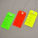 EQUIPMENT TAGS, SPECIFY COLOR