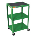 STEEL ADJ HEIGHT AV CART